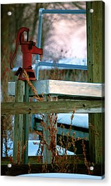 Cleaning Station Pump Acrylic Print by Jame Hayes