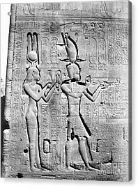 Cleopatra And Caesarion, Temple Acrylic Print by Science Source