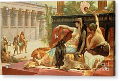Cleopatra Testing Poisons On Those Condemned To Death Acrylic Print by Alexandre Cabanel
