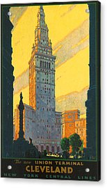 Cleveland - Vintage Travel Acrylic Print by Georgia Fowler