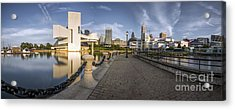 Cleveland Panorama Acrylic Print by James Dean