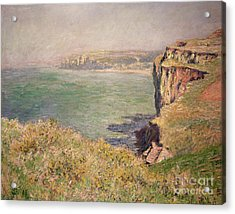 Cliff At Varengeville Acrylic Print by Claude Monet