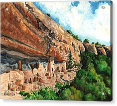 Cliff Palace Mesa Verde Acrylic Print by Timithy L Gordon