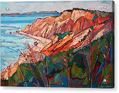 Cliffs In Color Acrylic Print by Erin Hanson