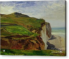 Cliffs Acrylic Print by Louis Eugene Gabriel Isabey