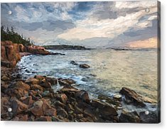 Cliffs Of Acadia II Acrylic Print by Jon Glaser