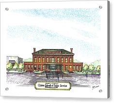 Clinton School Of Public Service Acrylic Print by Yang Luo-Branch
