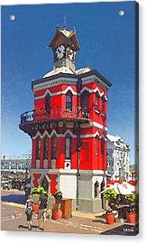 Clock Tower Acrylic Print by Jan Hattingh