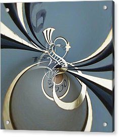 Clockface 3 Acrylic Print by Philip Openshaw