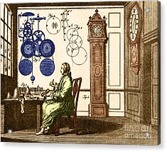 Clockmaker Acrylic Print by Photo Researchers