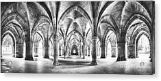Cloister Black And White Panorama Acrylic Print by Jane Rix
