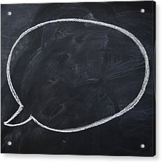 Close Up Of Blank Speech Bubble Acrylic Print by Jamie Grill