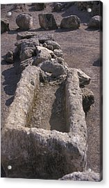 Close Up Of Excavations In The Ancient Acrylic Print by Richard Nowitz