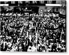 Closing Time On The Trading Floor Acrylic Print by Everett