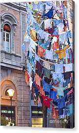 Clothes In The Street Acrylic Print by Andre Goncalves