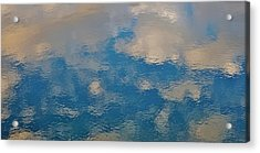 Clouds In The Water  Acrylic Print by John Pierpont