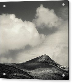 Clouds Over Ben More Acrylic Print by Dave Bowman