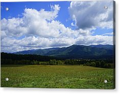 Clouds Over Cades 2 Acrylic Print by Laurie Perry