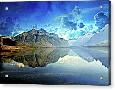Clouds Over Lake Mcdonald 2 Acrylic Print by Marty Koch