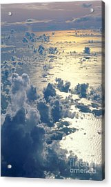Clouds Over Ocean Acrylic Print by Ed Robinson - Printscapes