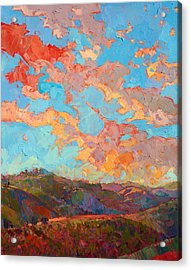 Clouds Over Paso Acrylic Print by Erin Hanson