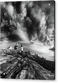 Clouds Over Pemaquid Lighthouse Acrylic Print by Darren White