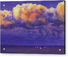 Clouds Acrylic Print by Valeriy Mavlo