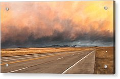 Cloudy Highway Acrylic Print by Susan Kinney