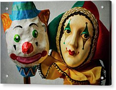 Clown And Jester Acrylic Print by Garry Gay