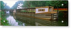 C&o Canal And Canal Boat, Great Falls Acrylic Print by Panoramic Images