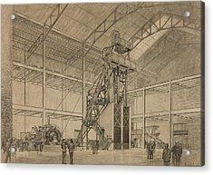 Coal Mine Hoist Acrylic Print by Percy Hale Lund