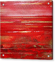 Coast Series Red Am8 Acrylic Print by Mike   Bell