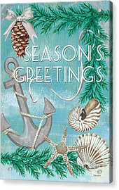 Coastal Christmas Card Acrylic Print by Debbie DeWitt