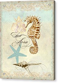 Coastal Waterways - Seahorse Rectangle 2 Acrylic Print by Audrey Jeanne Roberts
