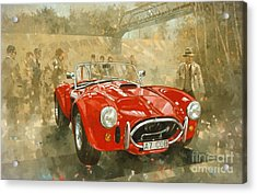 Cobra At Brooklands Acrylic Print by Peter Miller