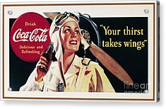 Coca-cola Ad, 1941 Acrylic Print by Granger