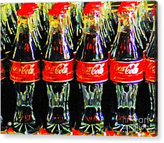 Coca Cola Coke Bottles Acrylic Print by Wingsdomain Art and Photography