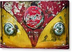 Coca Cola Vw Split Screen  Acrylic Print by Tim Gainey