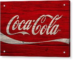 Coca Cola Worn Wood Sign Acrylic Print by Dan Sproul