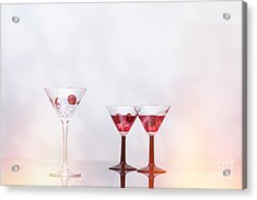 Cocktail Glass Filled With Ice  Acrylic Print by Amanda And Christopher Elwell