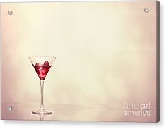Cocktail In Art Deco Glass Acrylic Print by Amanda And Christopher Elwell