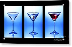 Cocktail Triptych Acrylic Print by Jane Rix