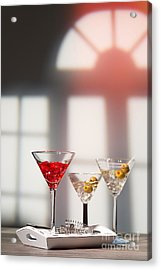 Cocktails At House Party Acrylic Print by Amanda And Christopher Elwell