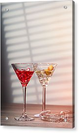 Cocktails With Strainer Acrylic Print by Amanda And Christopher Elwell