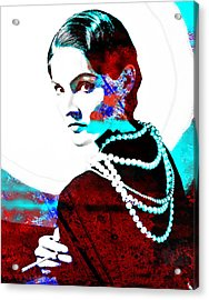 Coco Chanel Hommage Acrylic Print by Vel Verrept