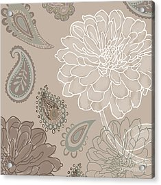 Cocoa Paisley V Acrylic Print by Mindy Sommers