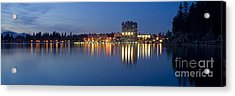 Coeur D Alene Night Skyline Acrylic Print by Idaho Scenic Images Linda Lantzy