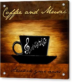 Coffee And Music Acrylic Print by Lourry Legarde
