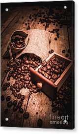 Coffee Bean Art Acrylic Print by Jorgo Photography - Wall Art Gallery