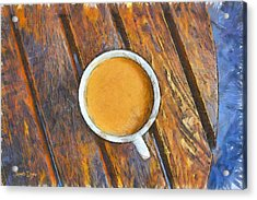 Coffee On The Table - Pa Acrylic Print by Leonardo Digenio
